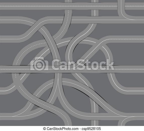 enrolamento, fundo, seamless, estrada - csp9528105