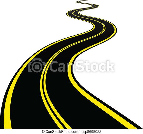 enrolamento, vetorial, estrada - csp8698022