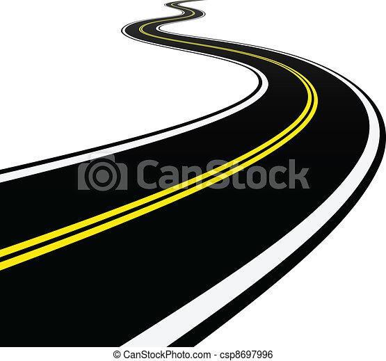 enrolamento, vetorial, estrada - csp8697996