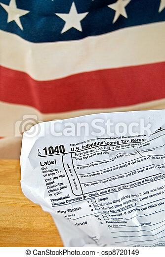 enrugado, forma imposto, renda - csp8720149