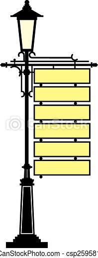 enseigne, lanterne - csp25958127