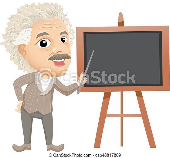 enseigner, albert, planche, illustration, einstein - csp48817809