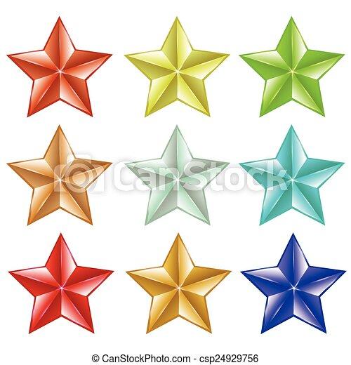 ensemble, étoiles - csp24929756