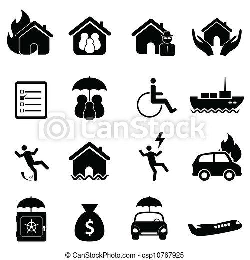 ensemble, assurance, icône - csp10767925