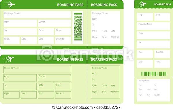 ensemble, billets, vert - csp33582727