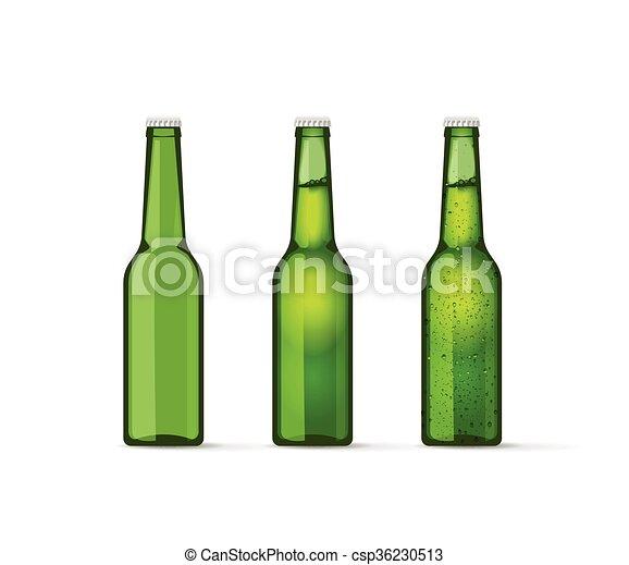 ensemble bouteilles entiers bi re bulles vert vide. Black Bedroom Furniture Sets. Home Design Ideas