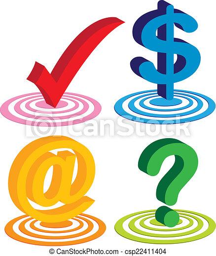 ensemble, business, coloré, commercial, technologie, icône - csp22411404
