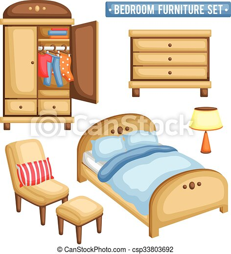 ensemble chambre meubles vecteurs eps rechercher des clip art des illustrations des dessins. Black Bedroom Furniture Sets. Home Design Ideas