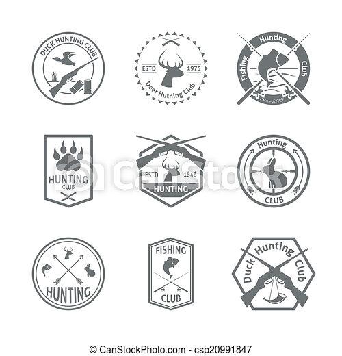 ensemble, chasse, étiquette - csp20991847