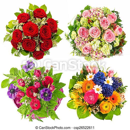 Ensemble Coloré Bouquet Anniversaire Mariage Fleurs