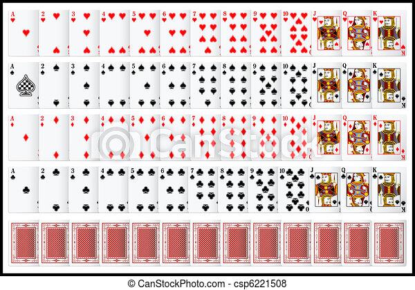 ensemble, complet, carte joue - csp6221508