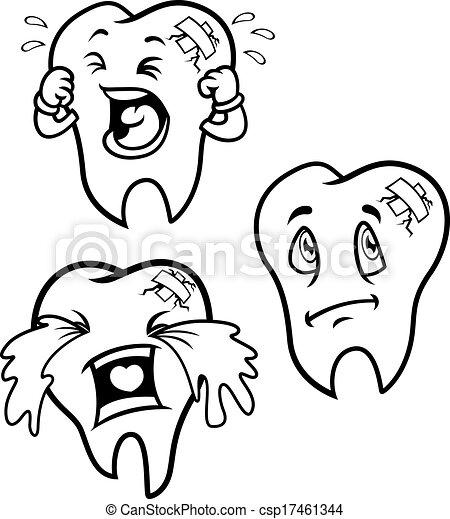 Ensemble dessin anim dents vecteur eps rechercher des - Dessin de dent ...