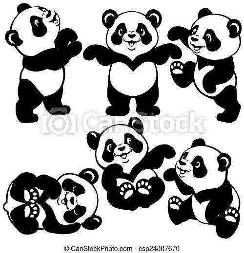 Ensemble Dessin Animé Panda