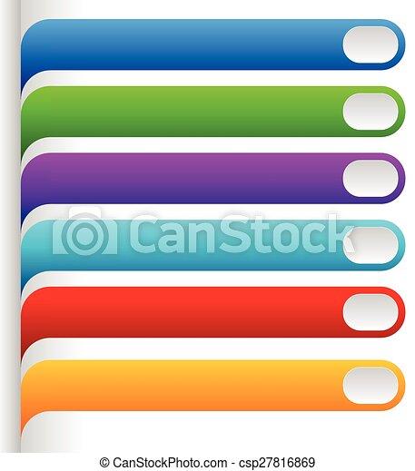 ensemble, elements., coloré, vecteur, conception, clair, graphics., oblong - csp27816869