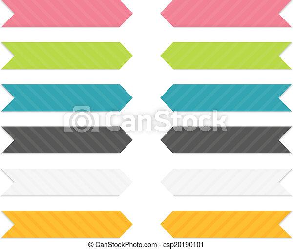 ensemble, flèches, coloré - csp20190101