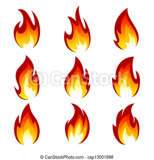 ensemble, flamme - csp13001898