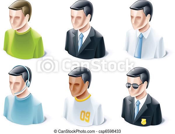 ensemble, gens, icônes - csp6598433