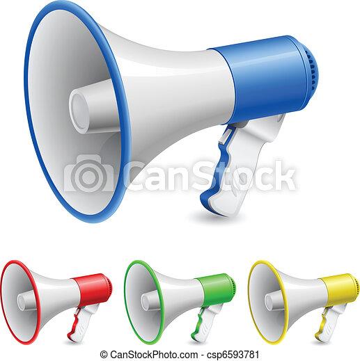 ensemble, haut-parleurs - csp6593781
