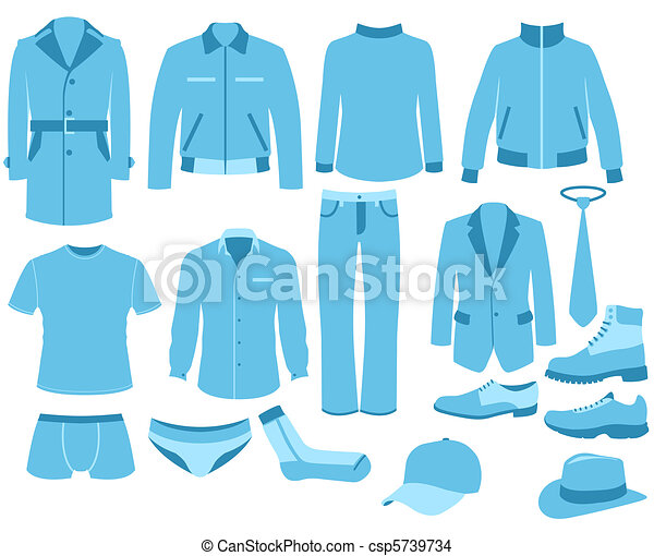 ensemble, homme, vêtements
