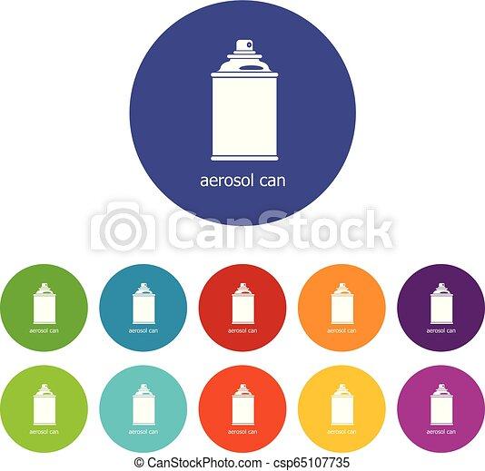 ensemble, icônes, couleur, vecteur, boîte aérosol - csp65107735