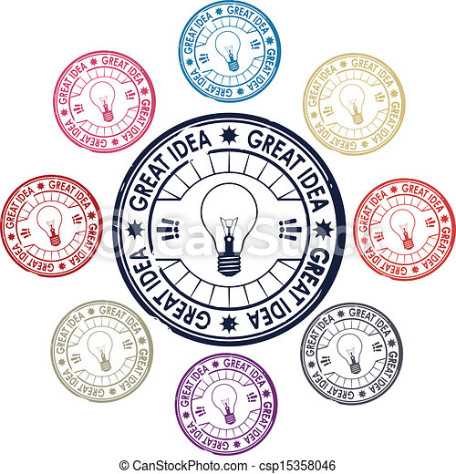 ensemble, idée, timbres - csp15358046