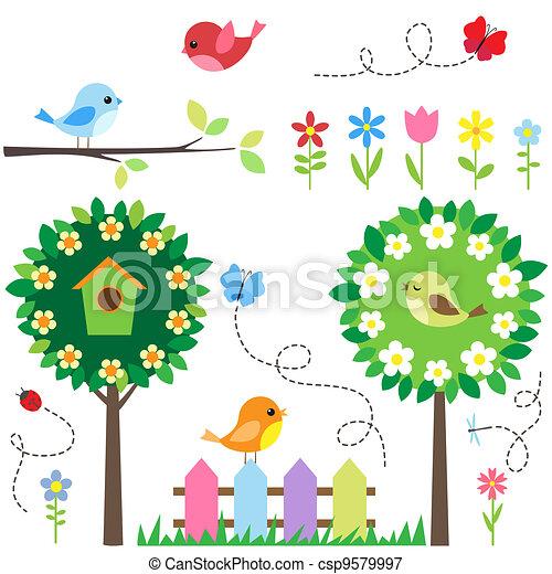 ensemble, jardin - csp9579997