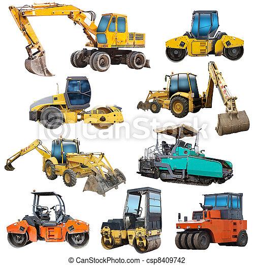 ensemble, machinerie, construction - csp8409742
