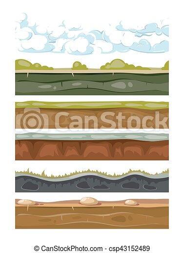 ensemble, mobile, apps, arrière-plans, jeux, la terre, paysage - csp43152489