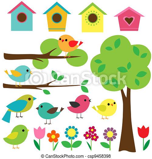 ensemble, oiseaux - csp9458398