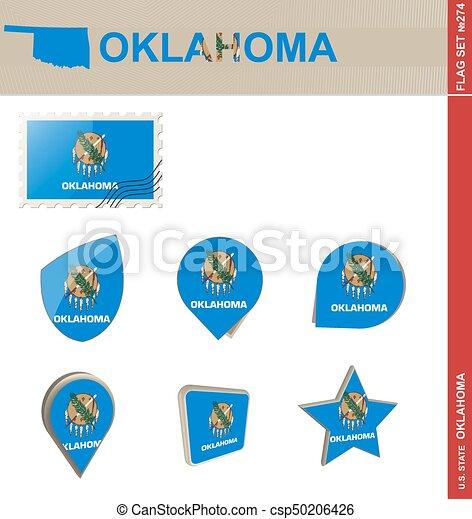 ensemble, oklahoma, ensemble, drapeau, #274 - csp50206426