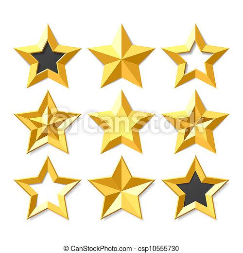 ensemble, or, étoiles - csp10555730