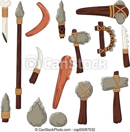 Ensemble Outils Homme Prehistorique