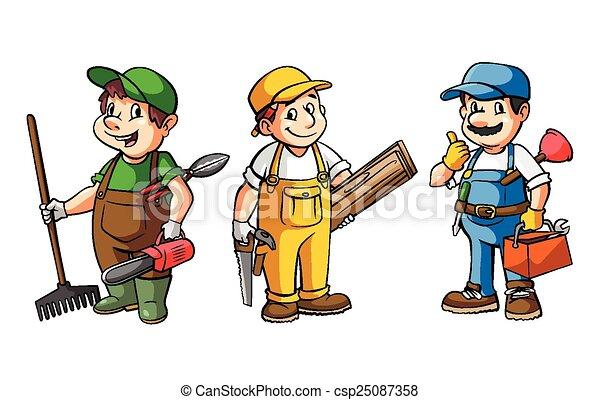 ensemble, ouvrier - csp25087358