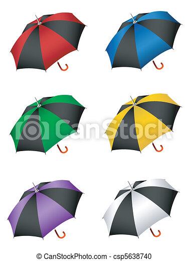 ensemble, parapluie - csp5638740