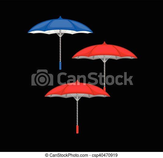 ensemble, parapluie, coloré - csp40470919
