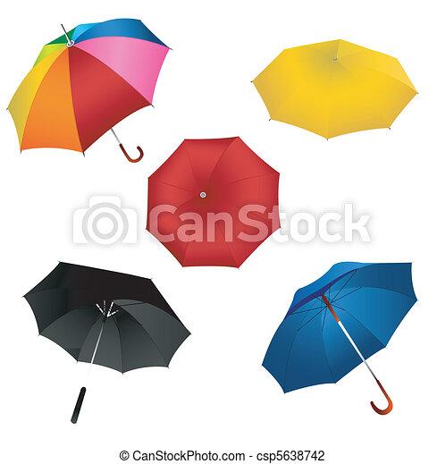 ensemble, parapluie - csp5638742
