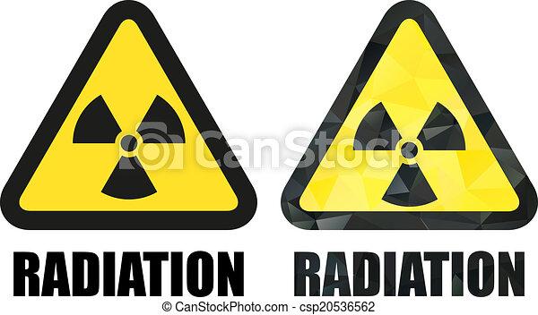 ensemble, radiation, signe danger - csp20536562