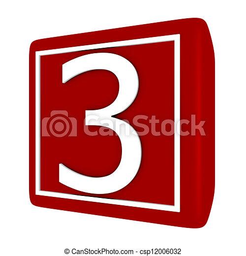 ensemble, render, numéro 1, 3, police, 3d - csp12006032