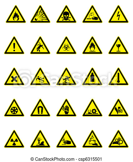 ensemble, signe danger - csp6315501