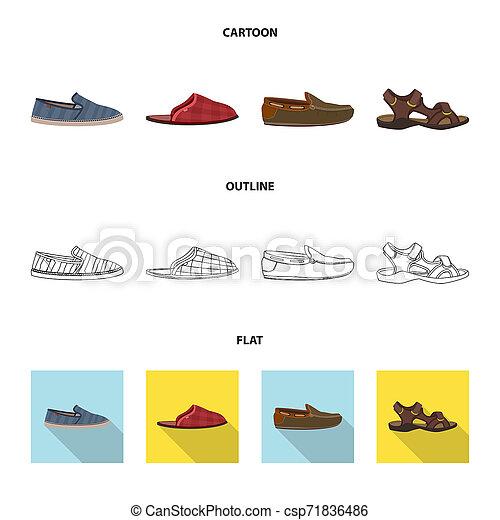ensemble, signe., web., bitmap, conception, chaussures, pied, chaussure, symbole, stockage - csp71836486