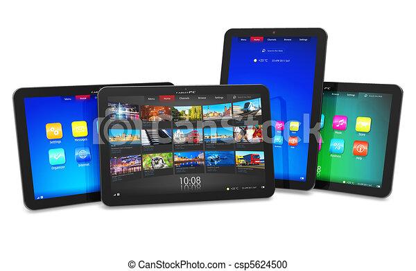 ensemble, tablette, ordinateurs - csp5624500