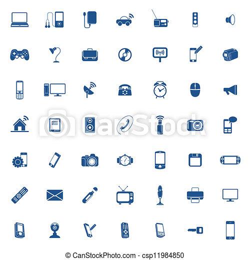 ensemble, technologie, icône - csp11984850