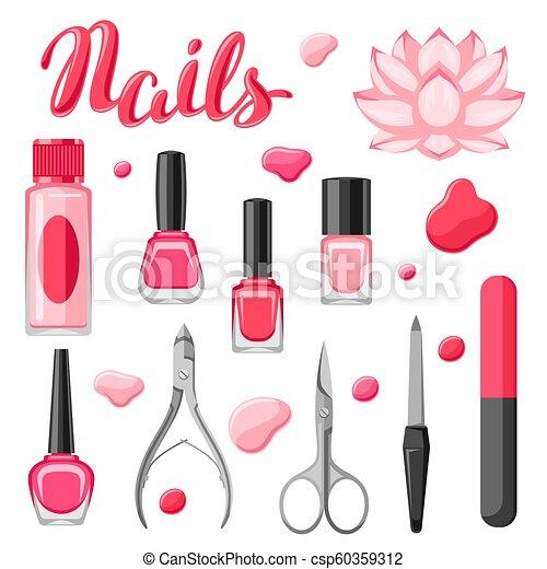 ensemble, tools., manucure - csp60359312