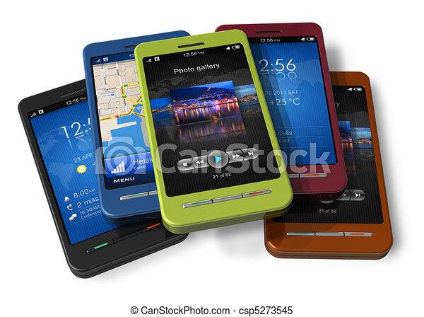 ensemble, touchscreen, smartphones - csp5273545