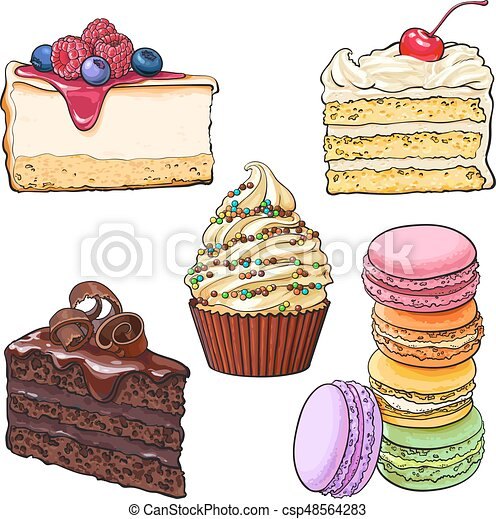 ensemble vanille cheesecake chocolat desserts vecteur search clip art illustration. Black Bedroom Furniture Sets. Home Design Ideas