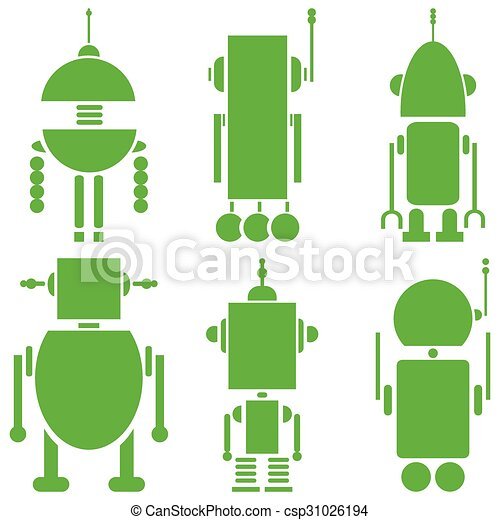 ensemble, vendange, robots, 2, retro, 6 - csp31026194