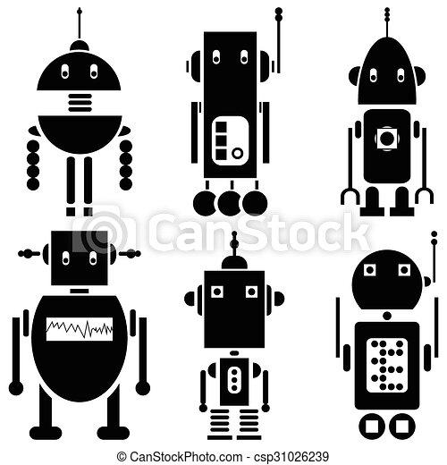 ensemble, vendange, robots, 2, retro, 6 - csp31026239
