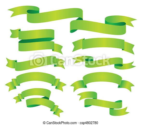 ensemble, vert, ruban - csp4802780
