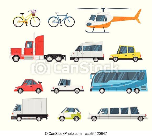 ensemble, ville, transport - csp54120647
