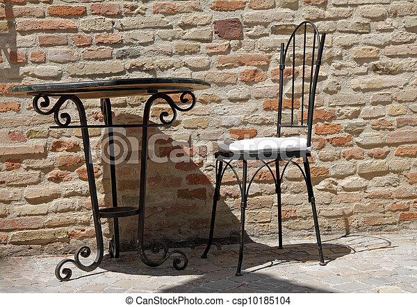 Ensolarado terra o ferro tabela cadeira forjado for Mobilia italia